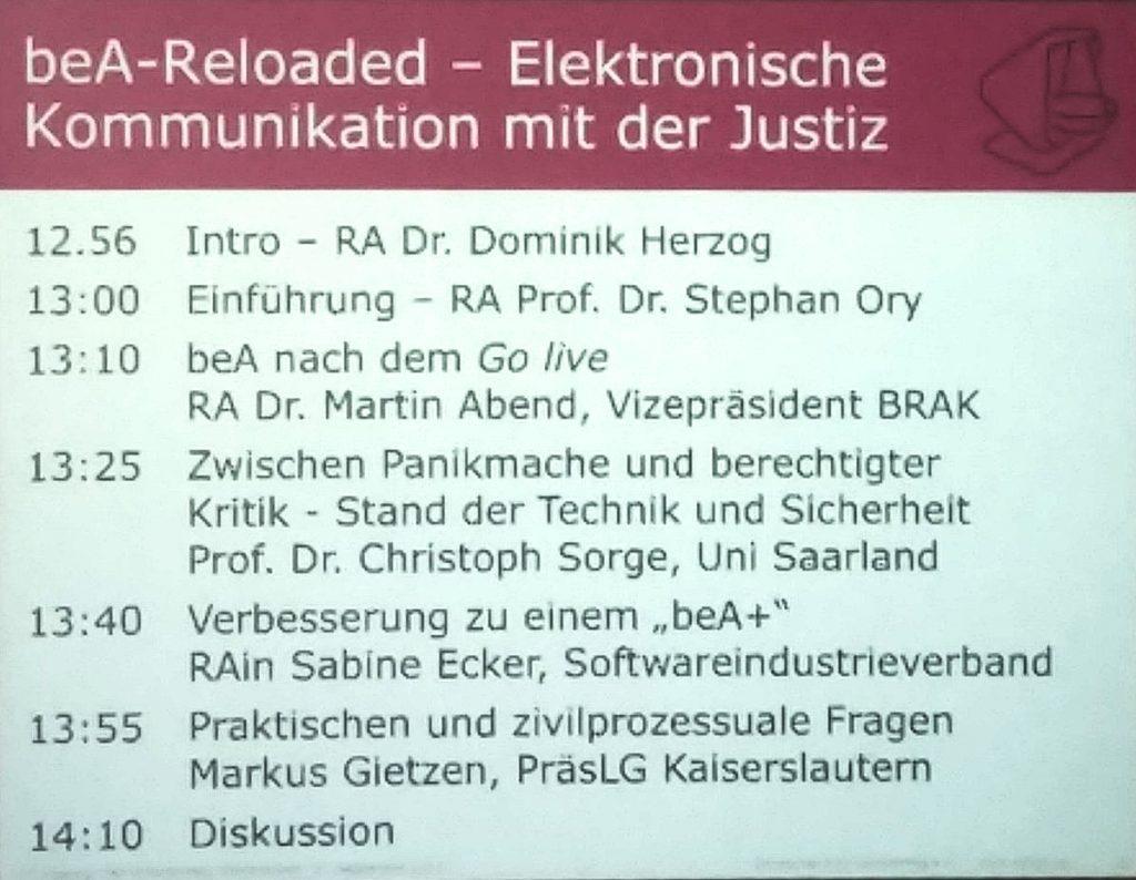 beA-Reloaded - Elektronische Kommunikation mit der Justiz