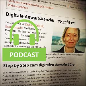 Digitale Kanzlei: Podcast von DUT mit RAin Carola Reetz